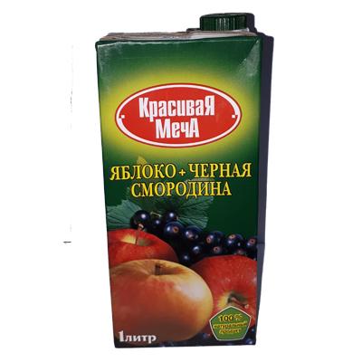 Нектар «Красивая Меча» чёрная смородина/яблоко 1л.