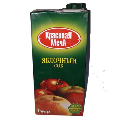 Сок «Красивая Меча» Яблочный слим 1л.