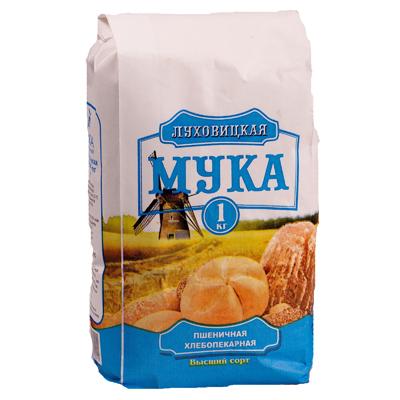Мука Луховицкая Пшеничная в/с 1кг