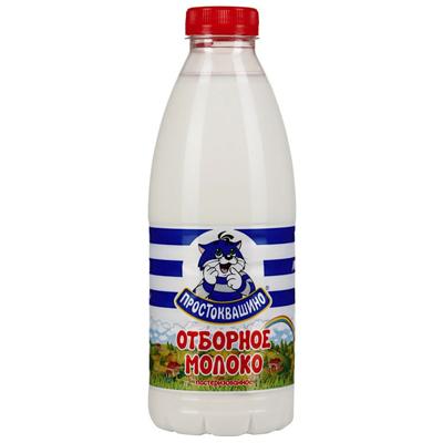 Молоко Простаквашино отборное 3,4-6% пл/бут. 0,93л