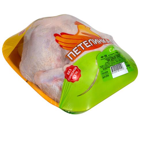 Тушка цыплёнка-бройлера «Петелинка» ГОСТ охлажденная на подложке 1 кг