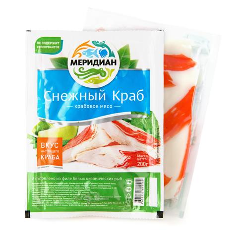 Крабовое мясо Меридиан «Снежный краб» 200гр
