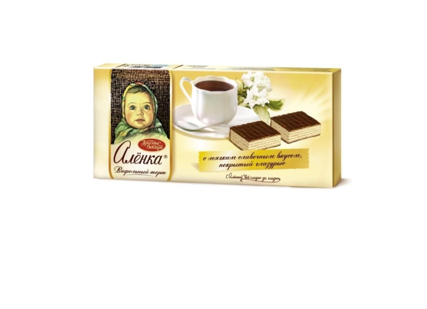 Торт Красный Октябрь Аленка вафельный 250г