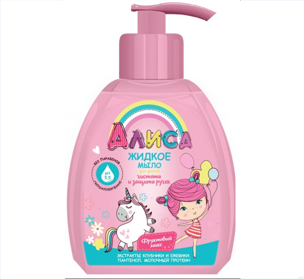 Мыло жидкое Алиса д/детей чистота и защита ручек 300мл