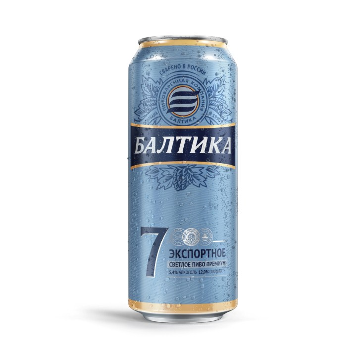 Пиво «Балтика № 7» ж/б 0,45л