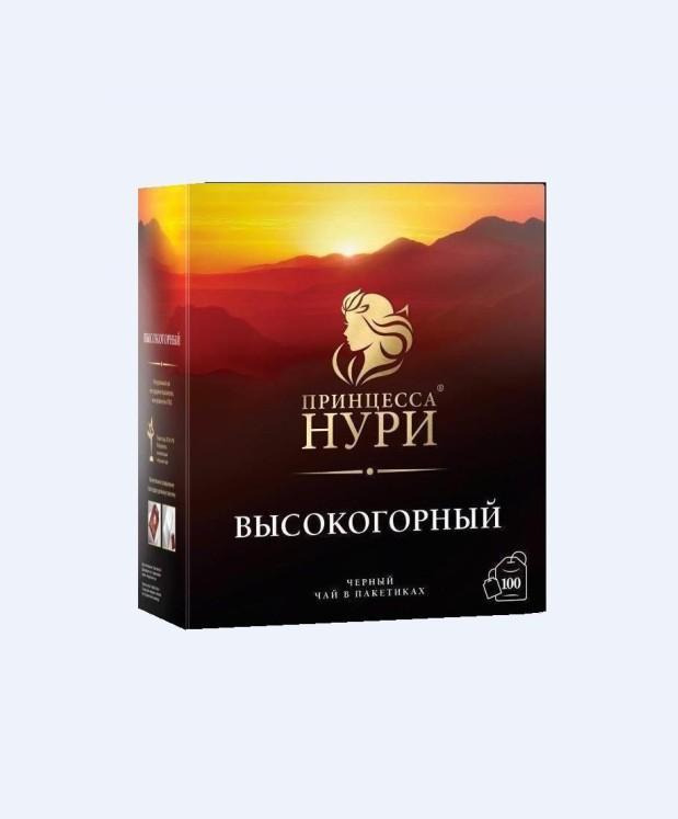 Чай Принцесса НУРИ Высокогорный (2*100) пак.черн.
