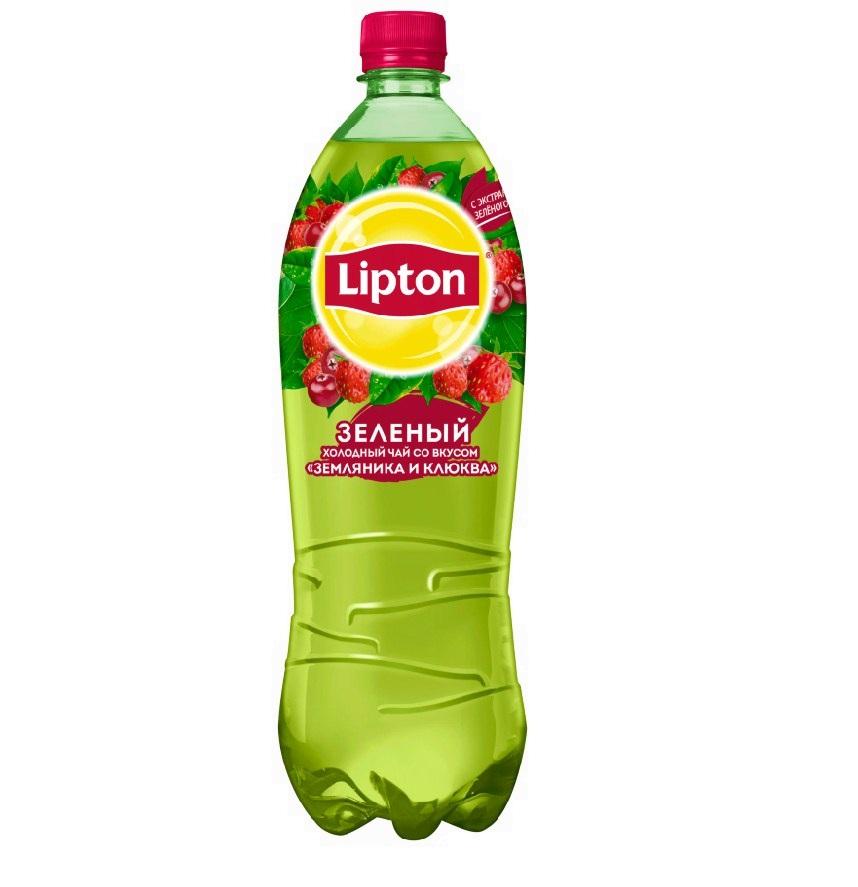Напиток холодный чай Липтон 1,5л пл/б Зеленый/ Земляника/клюква
