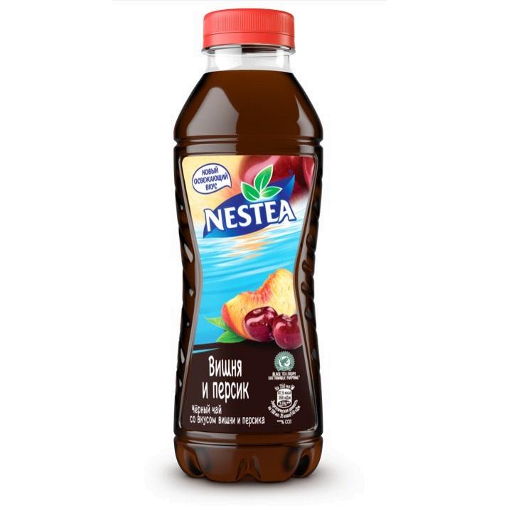 Напиток холодный чай Нести 1,5л пл/б   — Вишня/Персик