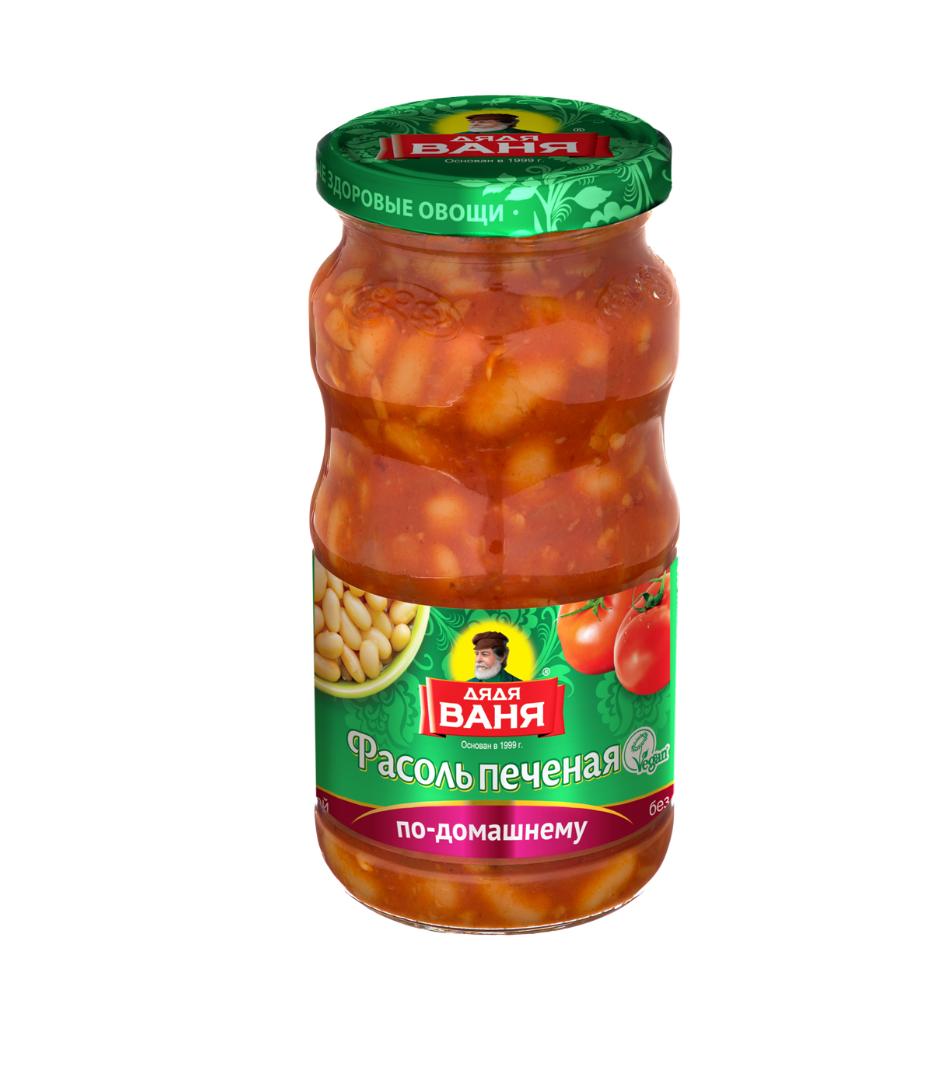 Фасоль Дядя Ваня печеная по-домашнему 480г ст/б