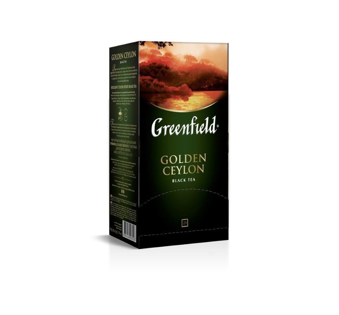 Чай «ГРИНФИЛД» Голден Цейлон(2гх25п) пак.черн.