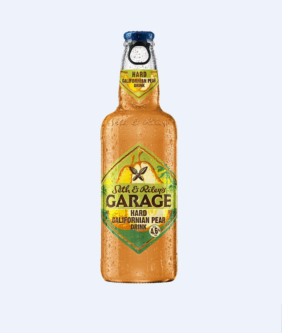 Напиток пивной «Garage» груша 0.44л ст/б