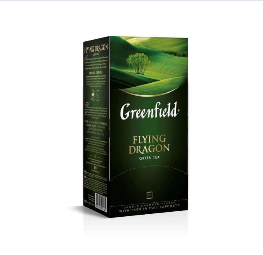 ГРИНФИЛД Флаинг Драгон(2гх25п)чай пак.зел.