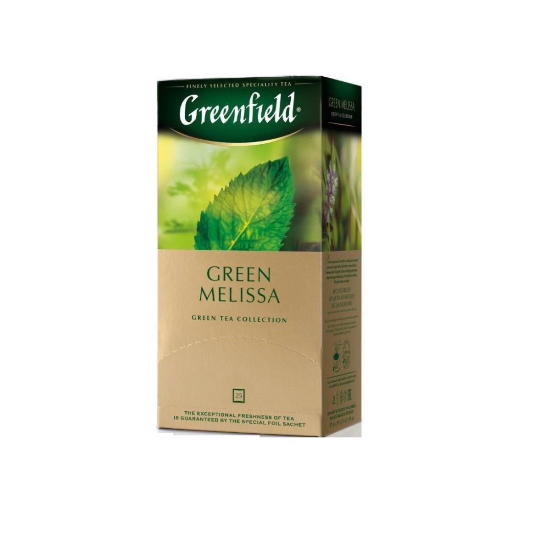 Чай Гринфилд Грин Мелисса (2*25) пак зеленый