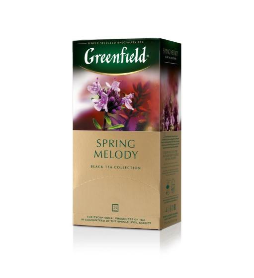 Чай «ГРИНФИЛД» Спринг Мелоди(1,5гх25п) пак.черн.