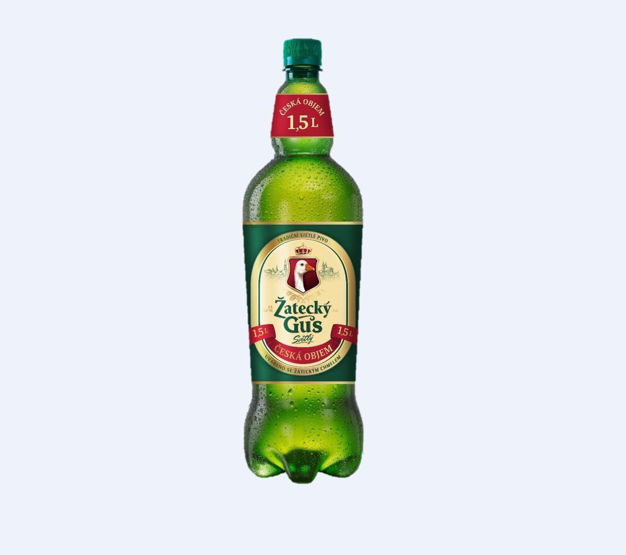 Пиво Жатецкий Гусь Чешский светлое 4,6% 1,52л пл/б