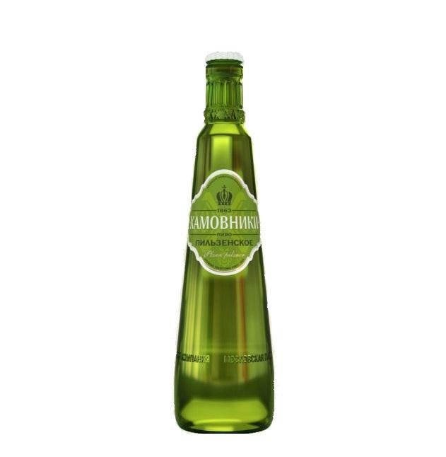 Пиво «Хамовники Пильзенское»  ст/б 0,47л.