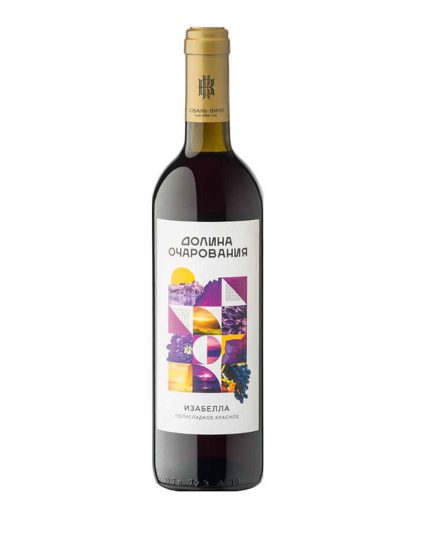 Вино столовое Долина Очарования 0,7л кр./сух «Каберне»