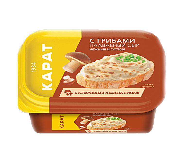 Сыр плавленый «Карат»  200гр.45%  —   с грибами