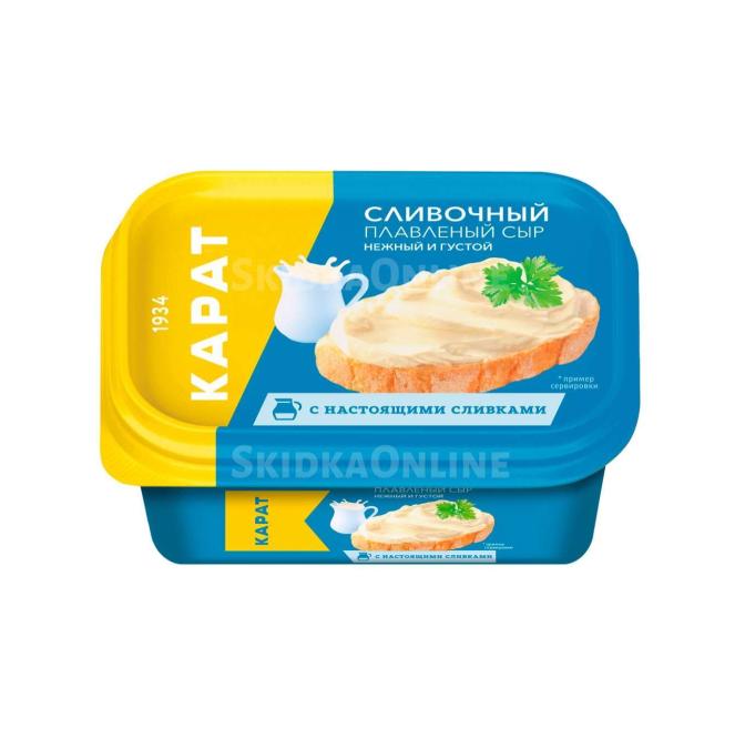 Сыр плавленый «Карат»  200гр.45% -сливочный