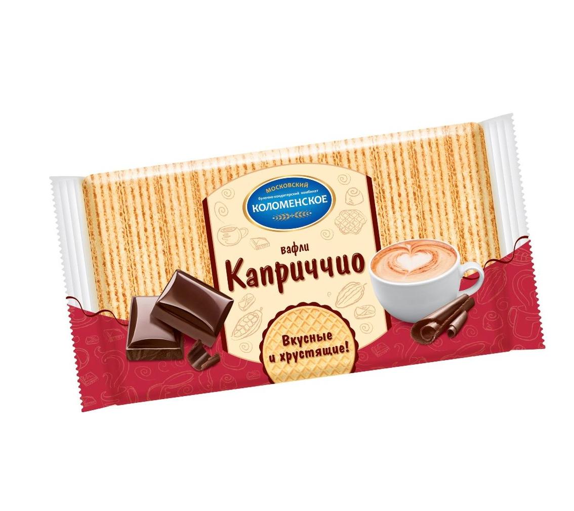 Вафли «Коломенские» 220г  -Каприччио с шоколадной начинкой