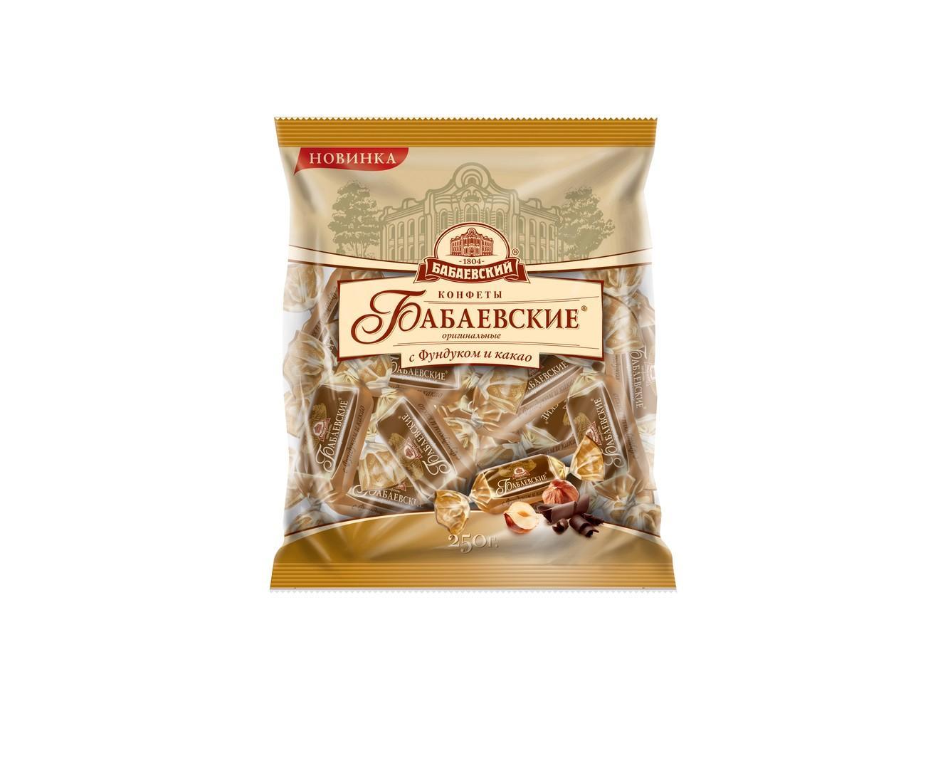 Конфеты «Бабаевский» Оригинальные фундук-какао 200г.