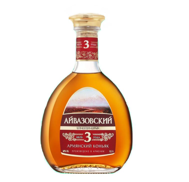 Коньяк Армянский  «Айвазовский» 3 года 0,5л