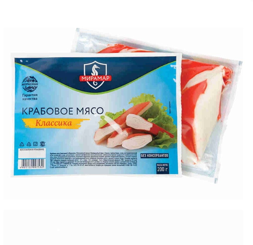 Крабовое мясо «Мирамар» охл. 200г