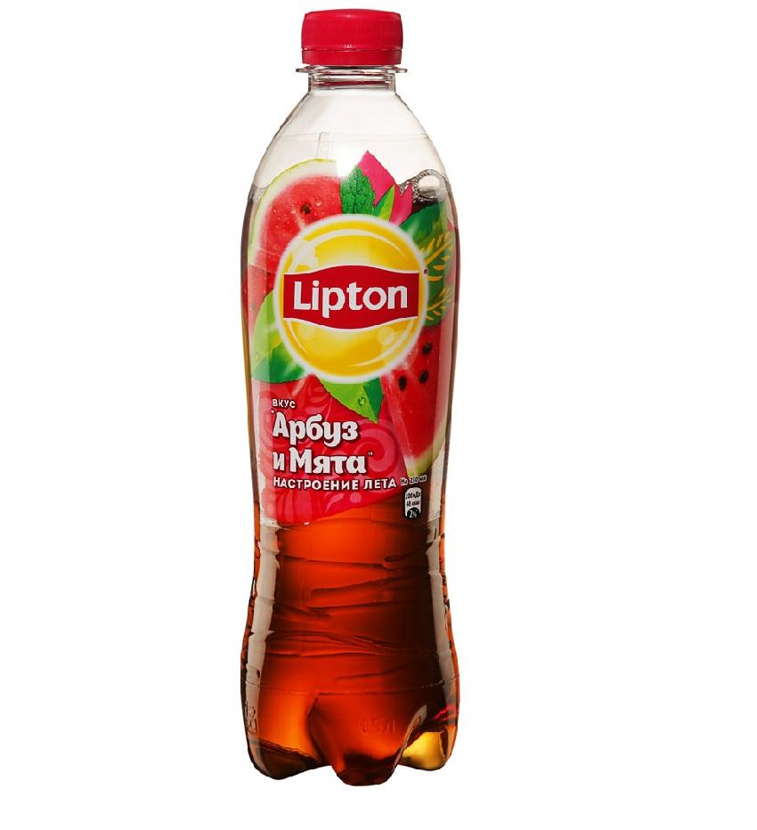 Напиток холодный чай «Липтон» 0,5л пл/б — Арбуз/Мята
