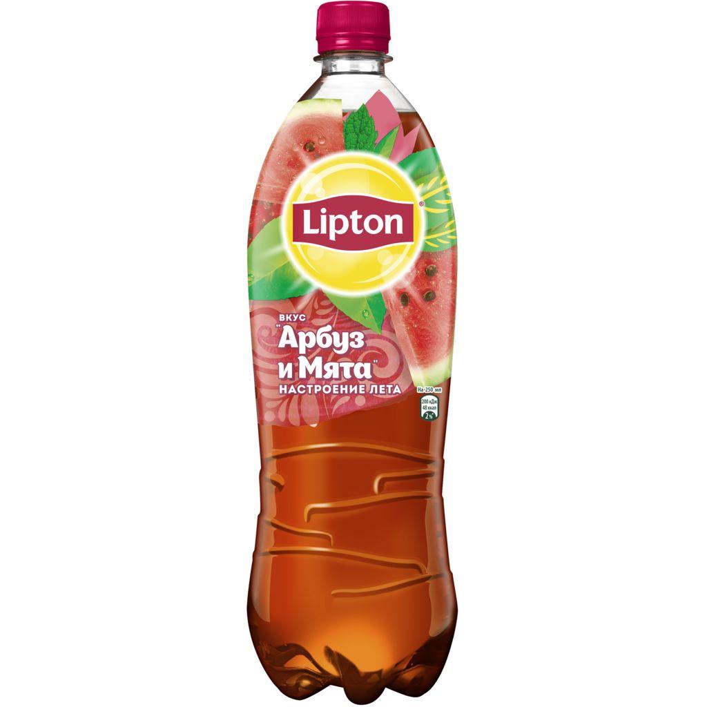 Напиток холодный чай Липтон 1,5л пл/б -Арбуз/Мята