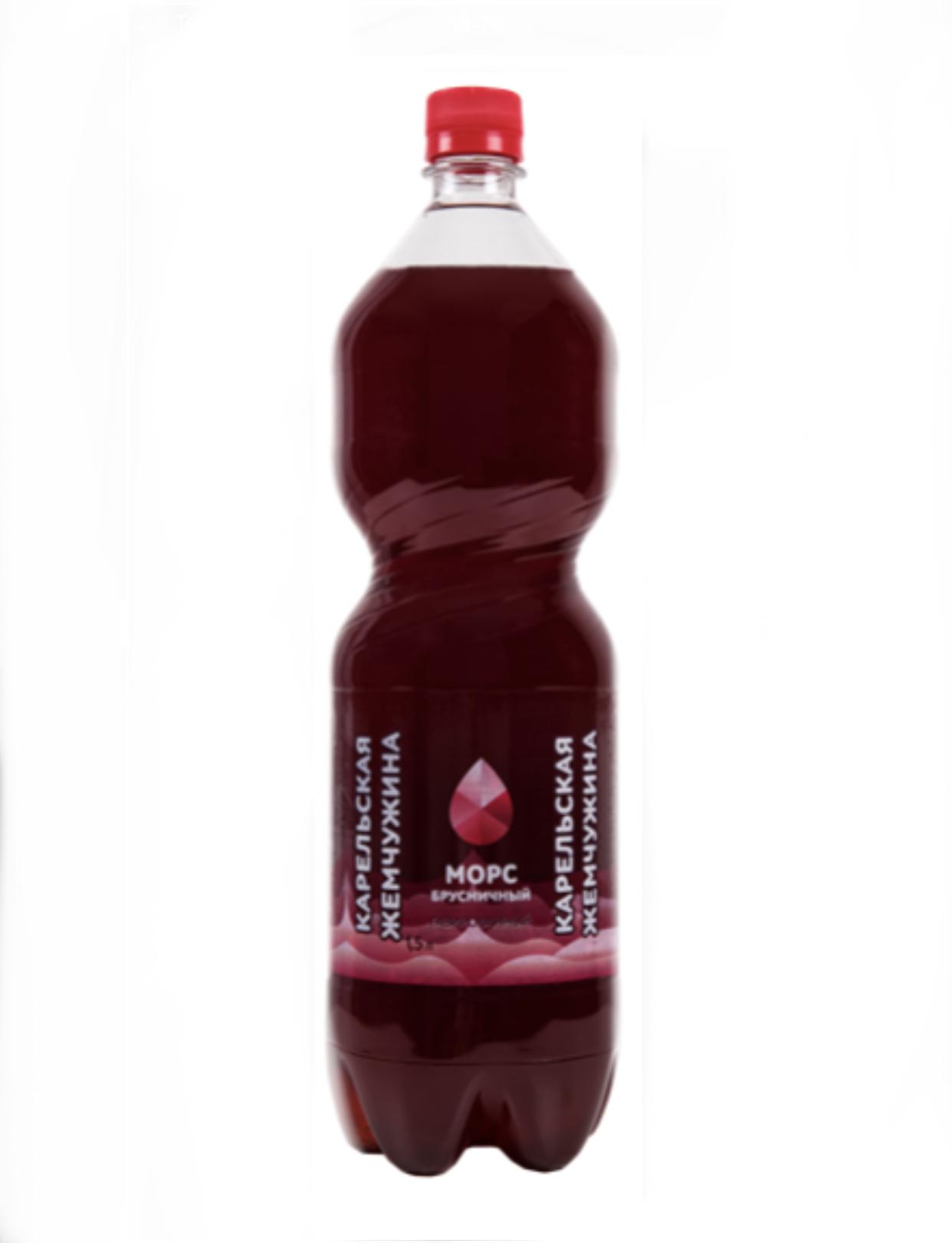 Напиток морсовый Карельская жемчужина «Брусничный» 1,5л