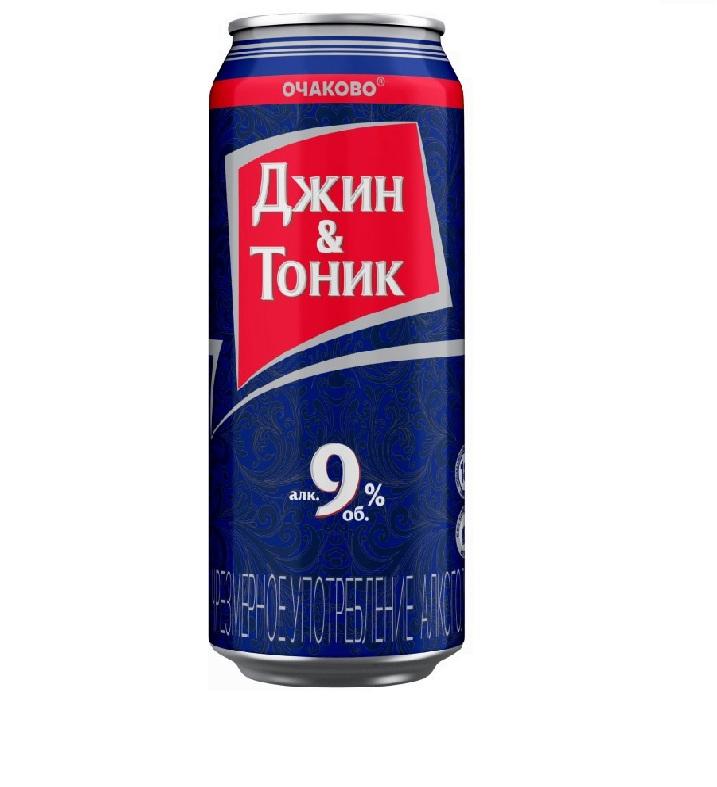Напиток «Джин-Тоник» слабоалкогольный газированный, ж/б 0.5л