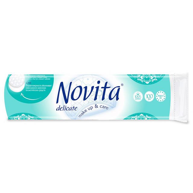 NOVITA Delicate Ватные диски косметические 100 шт.