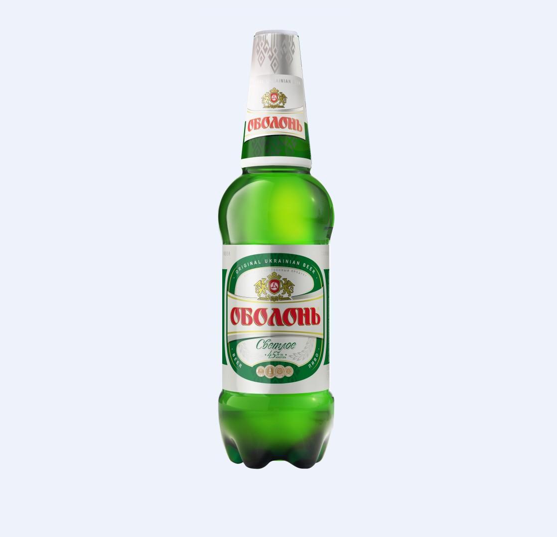 Пиво Оболонь светлое 1.35л