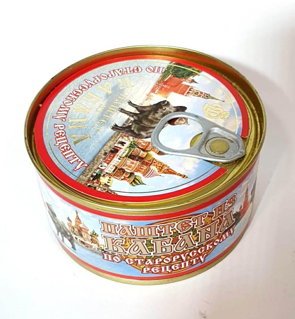 Паштет из Кабана (по Старорусскому рецепту), 200г, ж/б