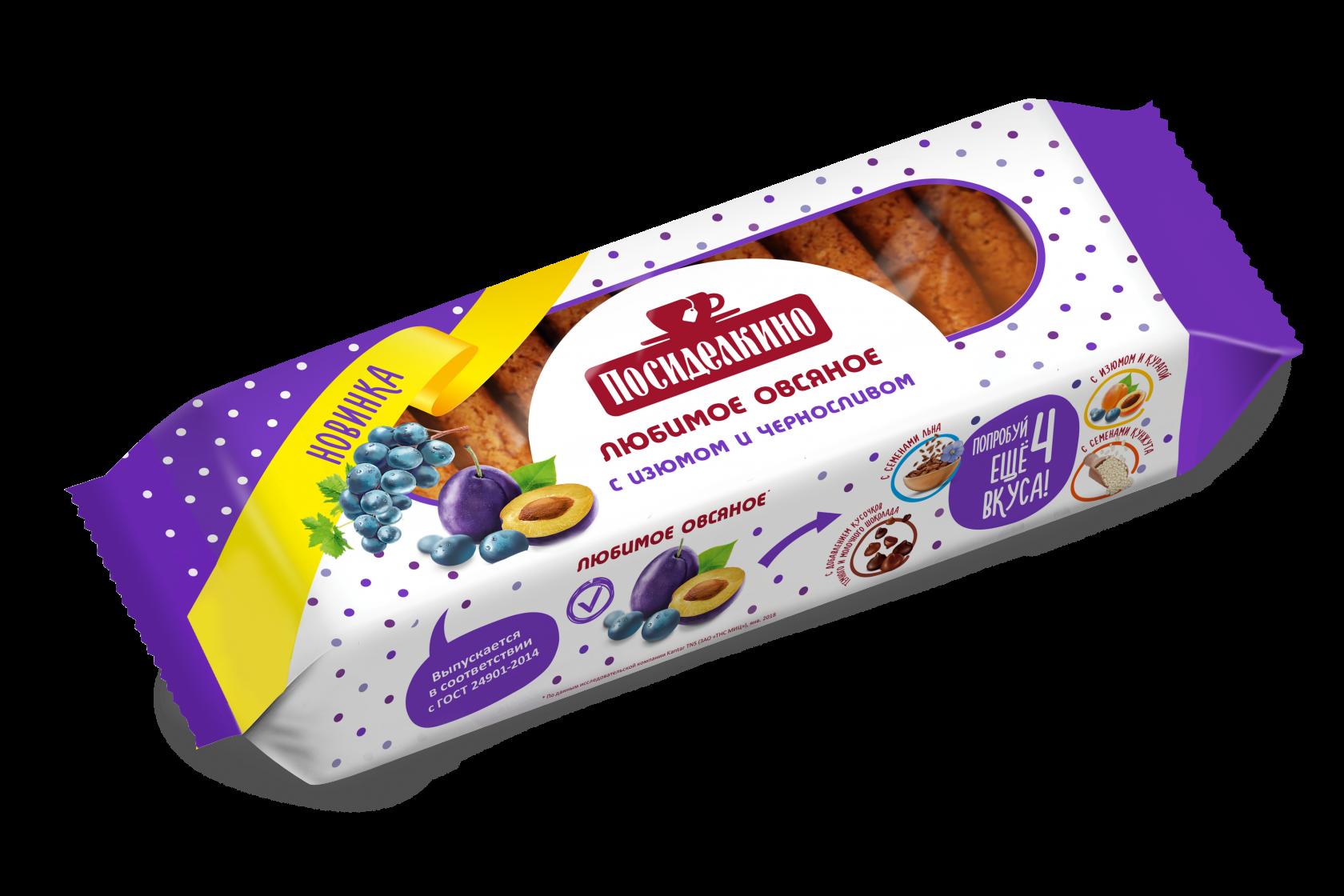 Печенье «Посиделкино» Овсяное 310г. с изюмом
