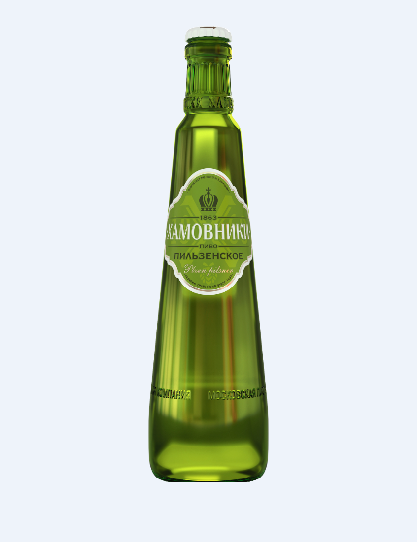 Пиво «Хамовники» Пильзенское 0.47л ст/б
