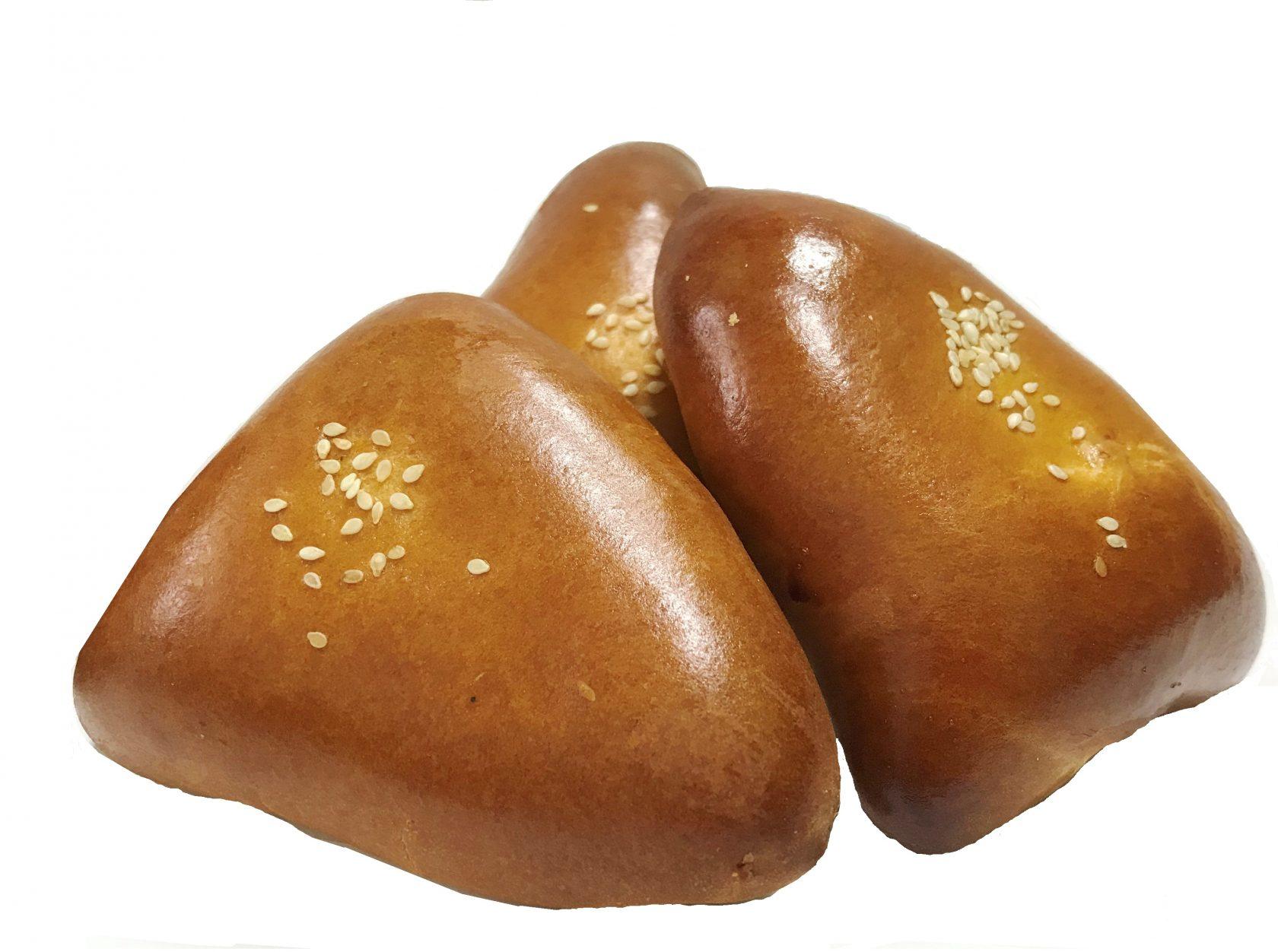 Пирожок сдобный 3х80г. в упаковке  -с яблочным повидлом НОВИНКА
