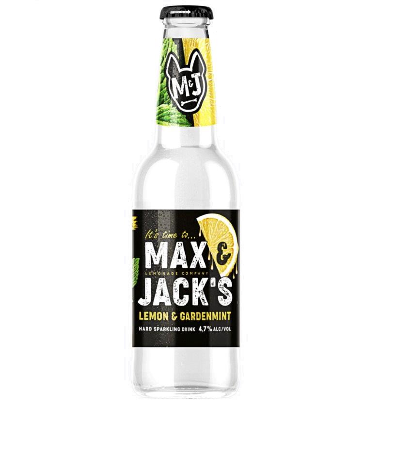 Пивной напиток «Макс энд Джэкс» 0,45 л, ст/б — Лимон-Мята