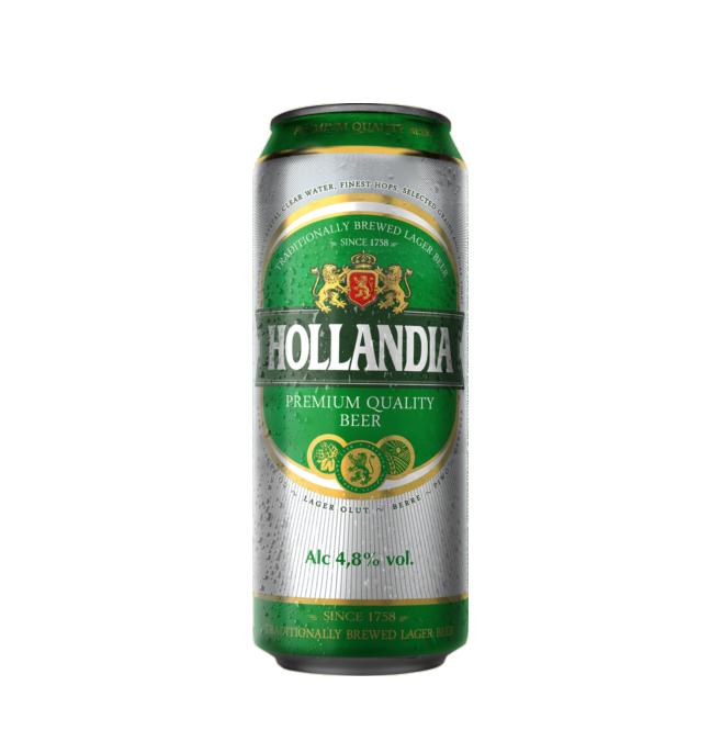 Пиво «hollandia» 0,45 ж/б