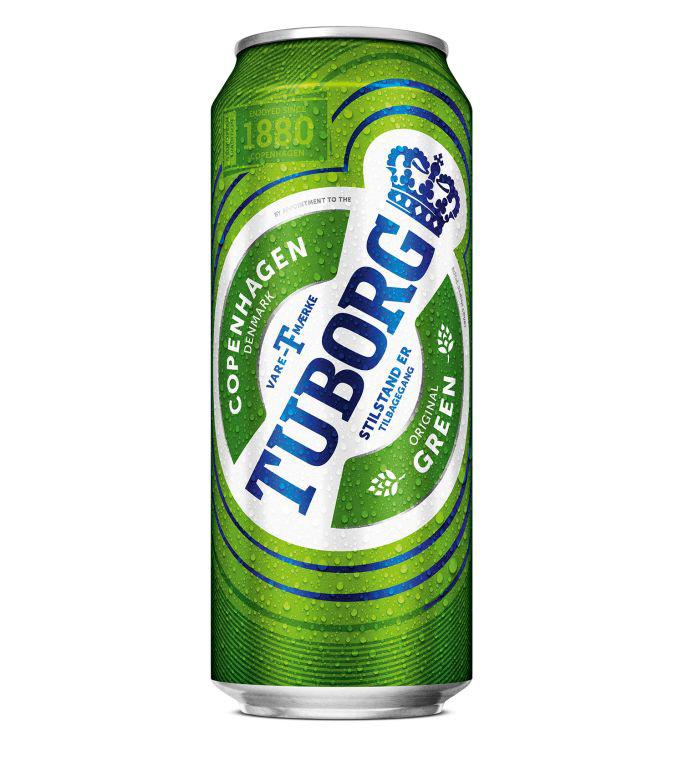 Пиво Туборг Грин светлое 4,6% 0,45л ж/б