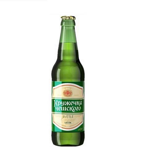 Пиво «КРУЖЕЧКА ЧЕШСКОГО» 0,45л  ст/б