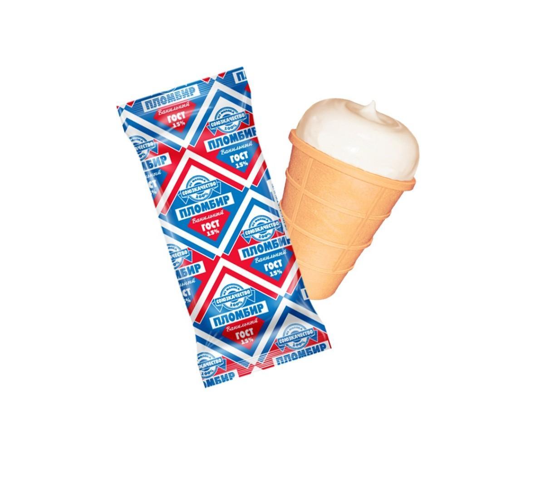 Мороженое Союз качества ваф.стаканчик 80гр. -пломбирный