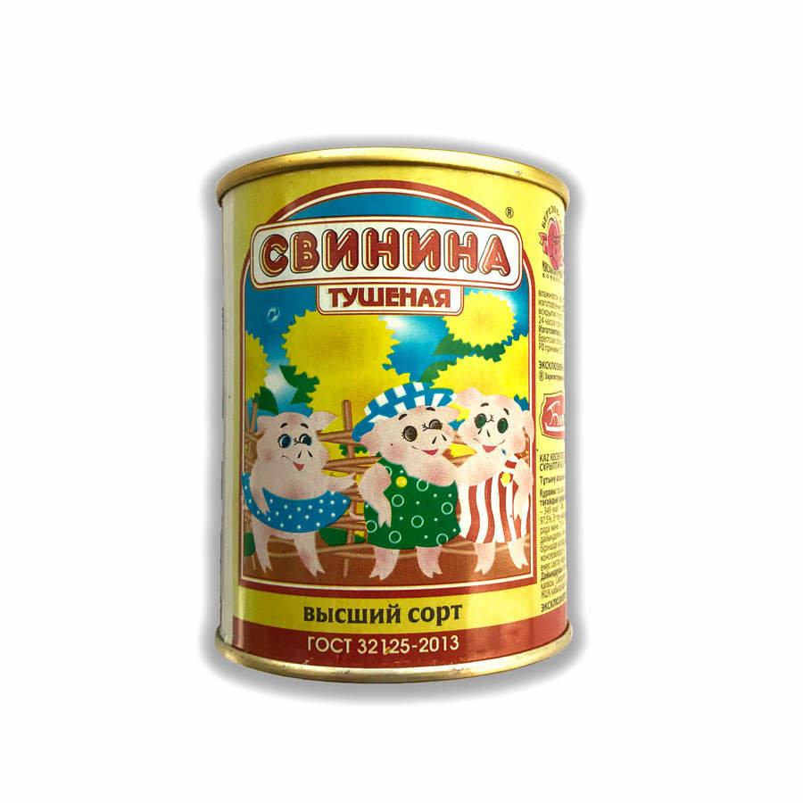 Свинина Березовский МКК тушеная ГОСТ 338гр, ж/б