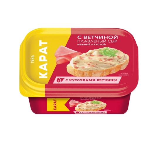 Сыр плавленый «Карат»  200гр.45%   -с ветчиной