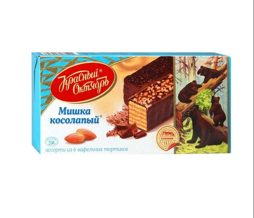 Торт Красный Октябрь Мишка косолапый вафельный 250г