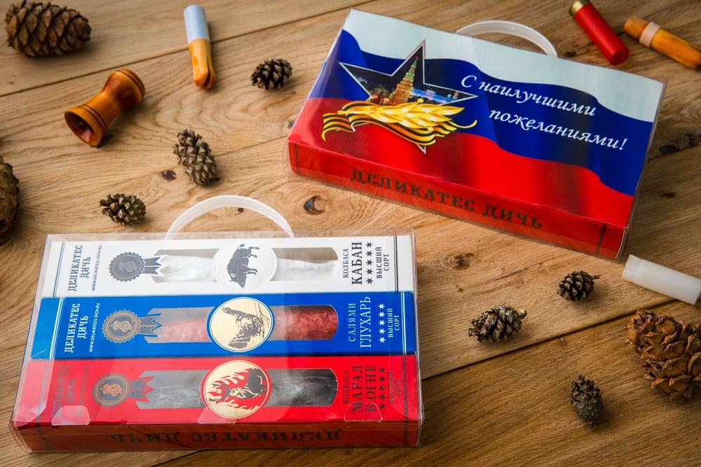 Подарочный набор «Триколор» (кабан, салями глухарь, марал)