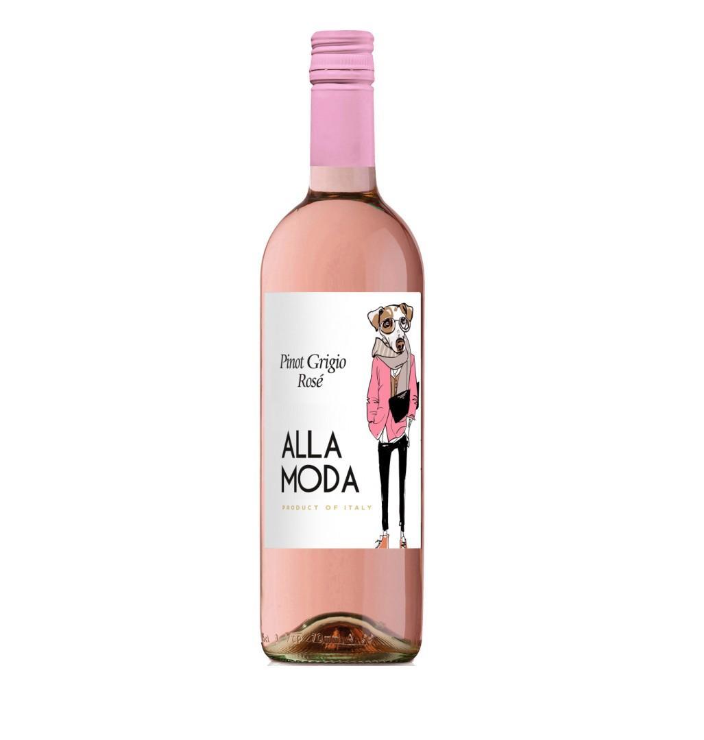 Вино Алла Мода Пино Гриджо Розато роз/сух 0,75л