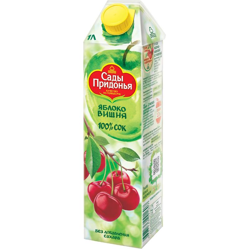 Сок «Сады Придонья» 1л  -яблоко-вишня
