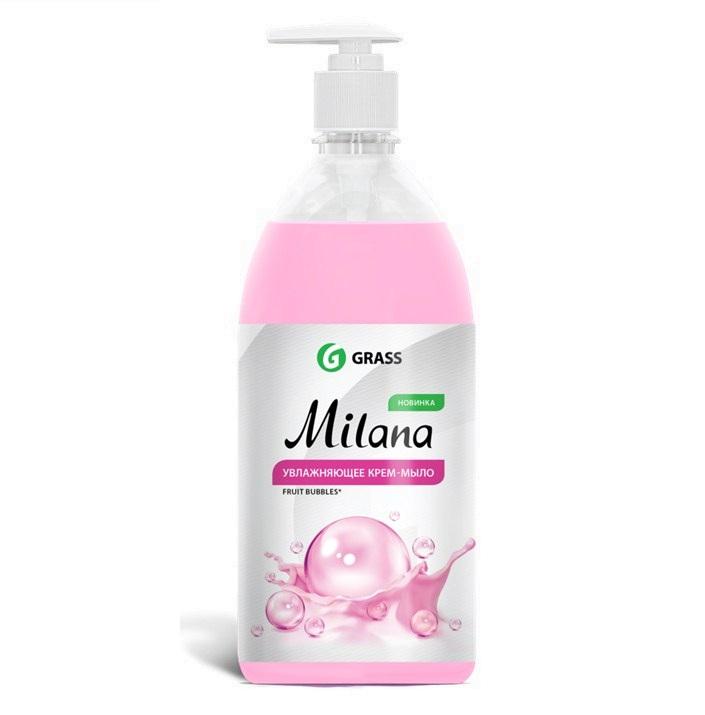 Жидкое крем-мыло «GRASS»  Milana  Fruit Bubbles     1000мл