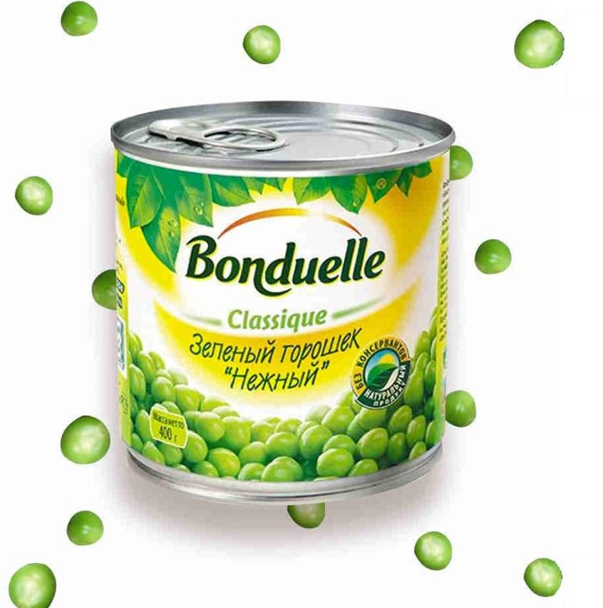 Горошек «Бондюэль» зел. нежн. 400г ж/б ключ